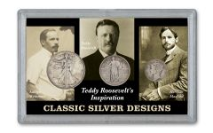 1916–1947 Teddy Roosevelt Inspiration 3-pc Set Fine