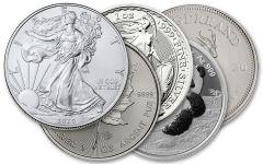 2020 Silver World Coin 5-pc Gem BU Starter Set