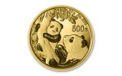2021 China 30-gm Gold Panda Brilliant Uncirculated