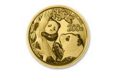 2021 China 15-gm Gold Panda Brilliant Uncirculated