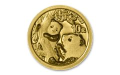 2021 China 1-gm Gold Panda Brilliant Uncirculated