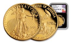 2020-W $50 GOLD EAG WWII 75TH NGC PF70UC FDI V75
