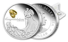 2021 Australia $1 1-oz Silver Wedding Proof
