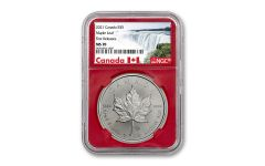 2021 Canada $5 1 oz Silver Maple Leaf Coin NGC MS70 FR Red Core Exclusive Canada Label