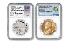 2016-S National Parks Half Dollar NGC PF70UC First Day of Issue w/Jones Signature & Roosevelt Medal