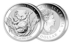 2021 Australia $1 1-oz Silver Koala BU