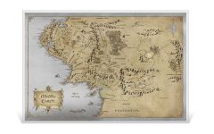 2021 Niue $2 35-gm Silver Lord of the Rings – Map of Middle Earth Colored Foil Note