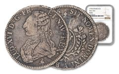 1775 France Silver Ecu NGC VF