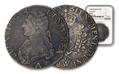 1783 France Silver Ecu NGC XF