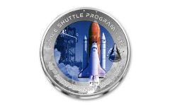 2021 Ghana 2 Cedis 32-gm Titanium First Space Shuttle Launch 40th Anniversary Uncirculated