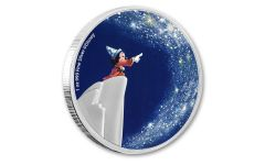 2021 Niue $2 1 oz Silver Disney Fantasia - Sorcerer's Apprentice Colorized Proof Coin GEM Proof OGP
