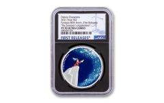 2021 Niue $2 1-oz Silver Disney Fantasia 80th Anniversary — The Sorcerer's Apprentice Colorized Proof NGC PF70UC First Releases w/ Black Core