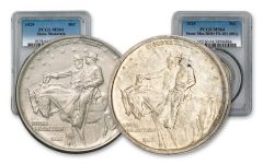 1925-P Stone Mountain Silver Half Dollar w/FS-101 2-pc Set PCGS MS64/MS64