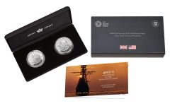 2020 Great Britain/U.S. 1-oz Silver Mayflower 400th Anniversary Proof 2-pc Set