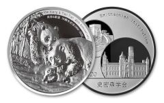 2000–2020 Smithsonian® 2-oz Silver National Zoo 20th Anniversary Panda Proof