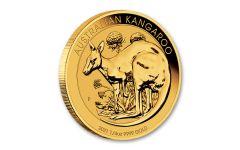 2021 Australia $25 1/4-oz Gold Kangaroo BU