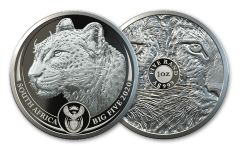 2020 South Africa 1-oz Silver Big 5 Leopard Proof