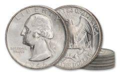 1946-S Silver Washington Quarter BU 5-Pack