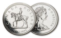 1973 Canada Mountie Silver Dollar Commemorative Proof-like