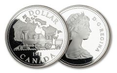 1981 Canada Trans-Canada Railroad Silver Dollar Commemorative Proof