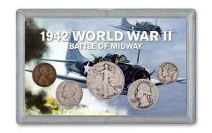 1942 World War II Battle of Midway 5-pc Set VG w/Japanese Shilling Note
