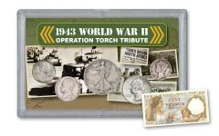 1943 WWII Operation Torch 5-pc Tribute Set w/ North African Note