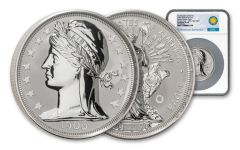 2020 Smithsonian 5-oz Silver 1906 Barber Double Eagle Ultra High Relief Reverse Proof NGC PF70UC