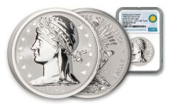 2020 Smithsonian 2-oz Silver 1906 Barber Double Eagle Ultra High Relief Reverse Proof NGC PF70UC