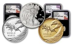 2020-W Gold & Silver Eagle V75 3-pc Set NGC PF70UC First Day of Issue w/Black Core & Mercanti Signature