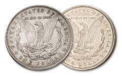 1878-P Morgan Silver Dollar Rev78/Rev79 2-pc Set XF