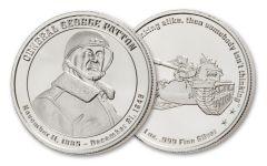 INTAGLIO MINT 1OZ MILITARY GEORGE PATTON MEDAL