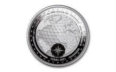 2021 Tokelau $5 1-oz Silver Terra Proof-Like