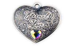Solomon Islands $1 15-gm Silver Eternal Love Heart-Shaped Antiqued Coin