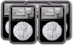 5-PACK 2021(S) $1 1-OZ SILVER EAGLE TYPE 1