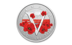 2020 Canada $5 1/4-oz Silver Moments to Hold – Remembrance Day Specimen