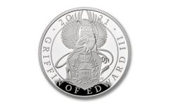 2021 Great Britain £2 1-oz Silver Queen's Beasts Griffin of Edward III Proof