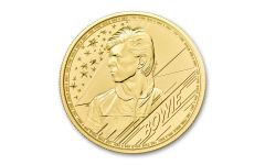 GB 2020 100 LB 1-OZ Gold David Bowie Brilliant Uncirculated