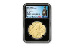 GB 2021 100 LB 1-OZ Gold David Bowie NGC MS70 First Release w/Black Core and Big Ben Label