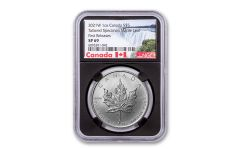 2021-W Canada $5 1-oz Silver Maple Leaf Tailored Specimen NGC SP69 First Releases w/Black Core & Canada Label