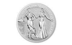 2020 1-oz Silver Allegories — Germania & Italia Gem BU