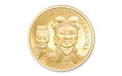 2021 Cook Islands $5 1/2-gm Gold Terracotta Warriors Ultra High Relief Proof