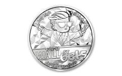 2021 WallStreetBets 1-oz Silver Round Gem BU