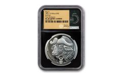 2021 South Africa 1-oz Silver Big 5 Buffalo Proof NGC PF70UC First Releases w/Big 5 Label