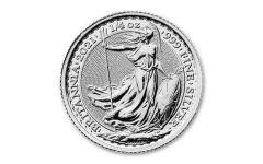 2021 Great Britain 50p 1/4-oz Silver Britannia Brilliant Uncirculated