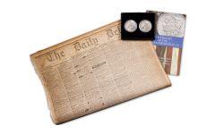 2PC 1881-1882-O $1 MORGAN BU W/NEWSPAPER
