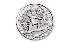 2021 Great Britain £2 1-oz Silver Myths and Legends: Robin Hood Gem BU