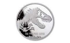 2021 Niue $10 5-oz Silver Jurassic World BU