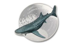 2021 Solomon Islands $2 1-oz Silver Giants of the Galapagos Whale Shark Proof-Like Coin