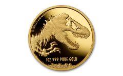 2021 Niue $250 1-oz Gold Jurassic World BU