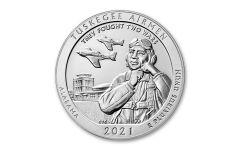 2021 25c 5-OZ SILVER ATB TUSKEGEE AIRMEN NATIONAL HISTORIC SITE BU